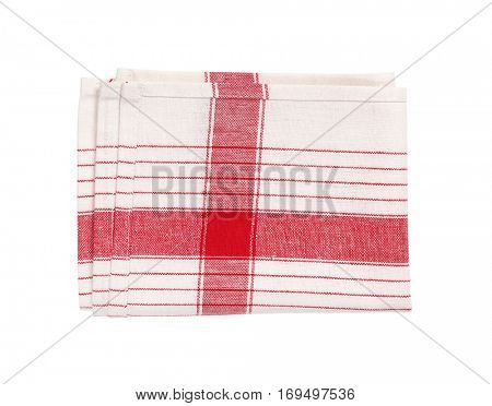 red and white striped dish towel