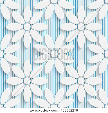Seamless Flower Pattern. Abstract Floral Background. Modern Swatch Wallpaper. 3d Sample Design. Wrapping Plexus Texture