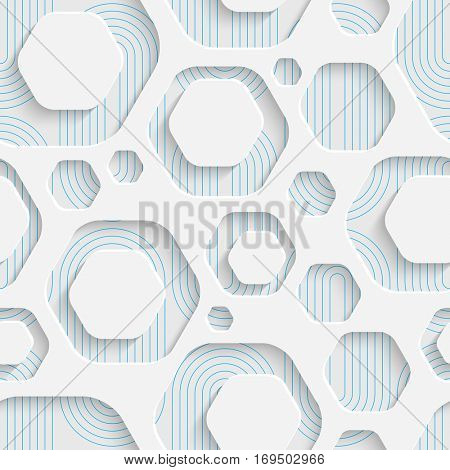 Seamless Web Hexagon Pattern. Abstract Creative Background. Modern Swatch Wallpaper. 3d Sample Design. Wrapping Plexus Texture