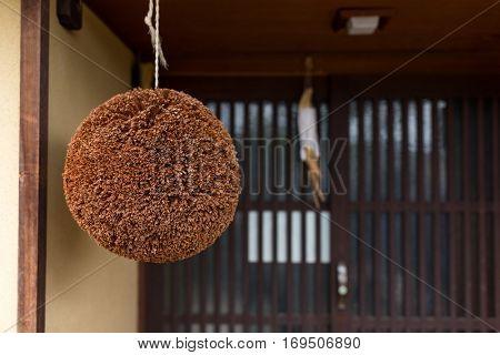 Ball made of cedar leaves