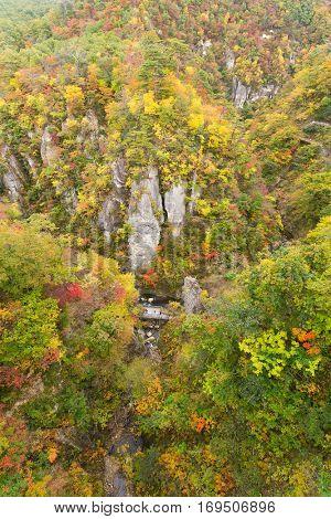 Naruko canyon in autumn