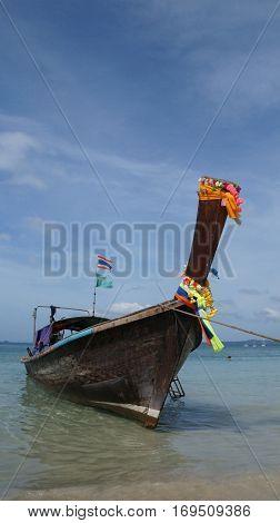 Long tail boat in Krabi, Thailand