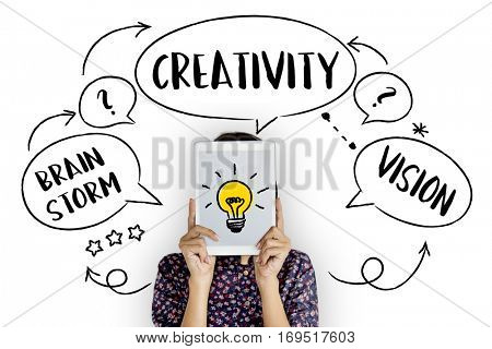 Fresh Ideas Creative Innovation Light bulb