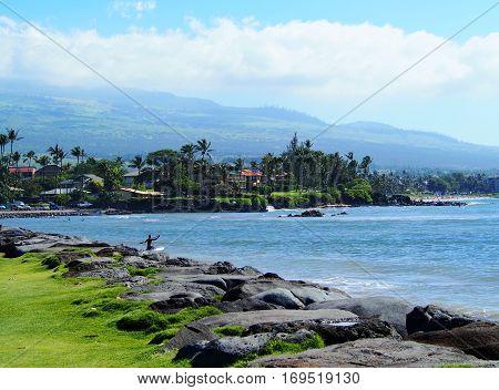 coastline view on the island of Maui Hawaii