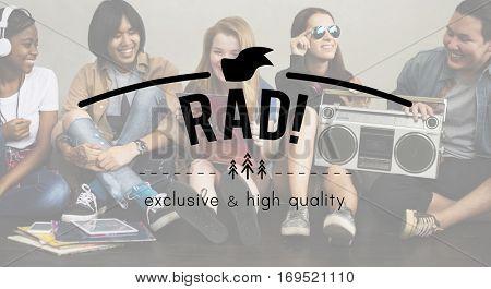 RAD! Vintage Vector Graphic Concept