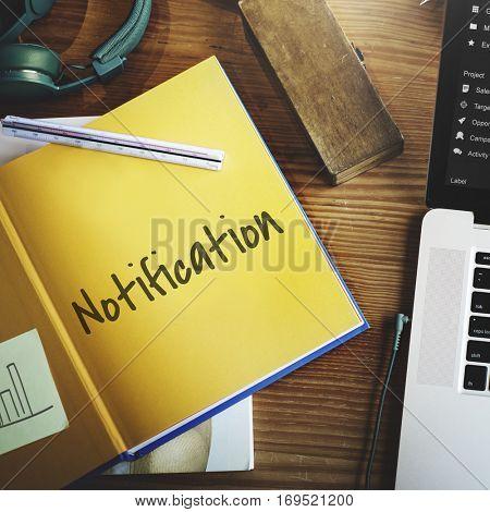 Notification Alert Reminder Personal Organizer Concept
