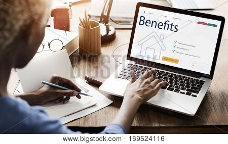 Working Woman Benefits Analysis Concept