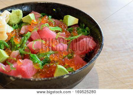 Tuna Don Japanese Food