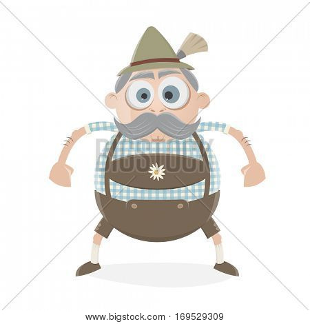 funny bavarian guy clipart