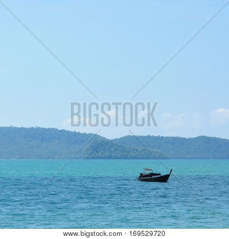 Boat On Andaman Sea, Thailand