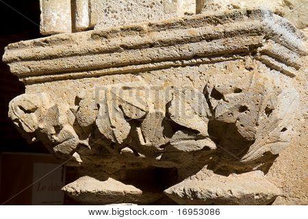 Closeup fragment of cloister