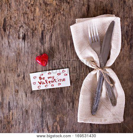 Serving On Valentine's Day.