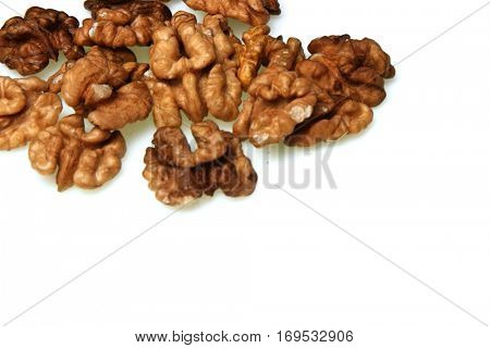 Walnuts on whote background - studio shot