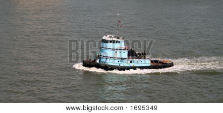 Tugboat Motoring Along