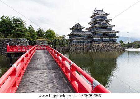 Bridge and Matsumoto Castle