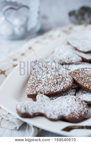 Delicious and crunchy freshy baked gingerbread cookies