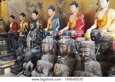 Objects of a Buddhist cult are in Buddhist temples poster