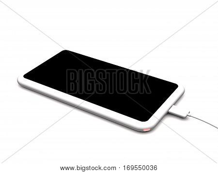 Modern wireless charger for smartphones and tablet PC on white background (3d illustration).