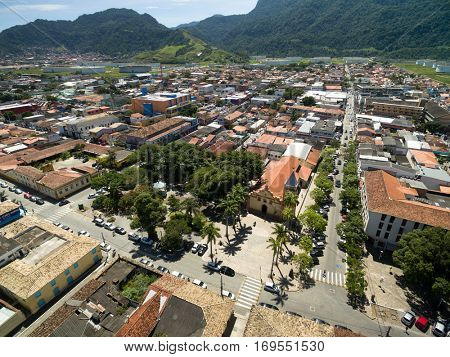 Aerial View of Sao Sebastiao, Sao Paulo, Brazil