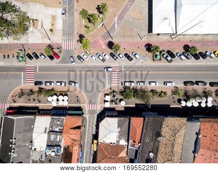 Top View of Street