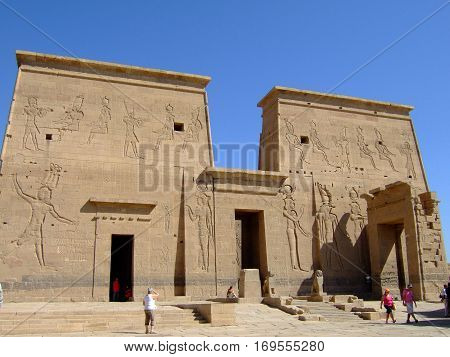 Temple of Philae a tourist destination in Egypt 2008