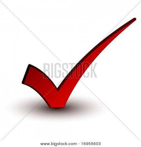 vector red positive checkmark