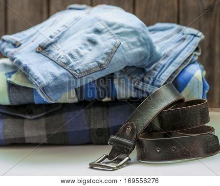Men's Shirt And Belt