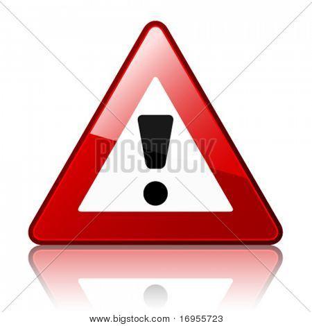 Vektor-Warnschild