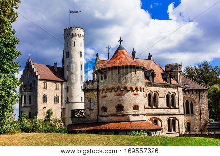 Beautiful castles of Europe - impressive Lichtenstein. Germany