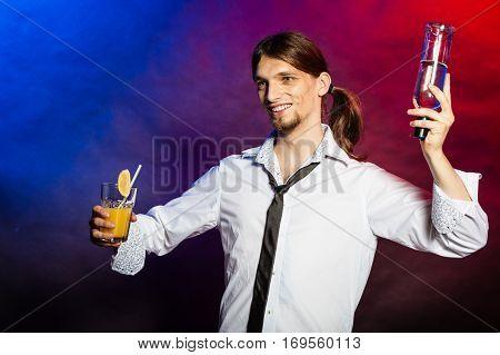 Barman Showing His Skills.