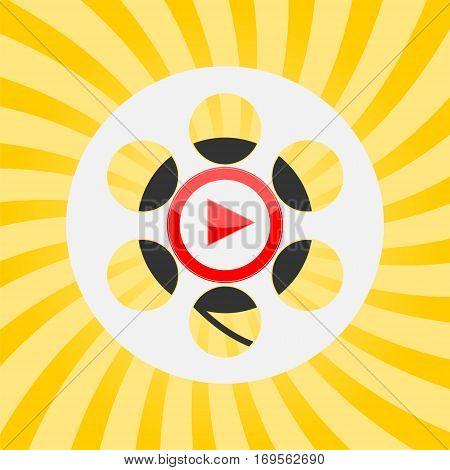 Cinema design, play icon, cinema icon, vector illustration