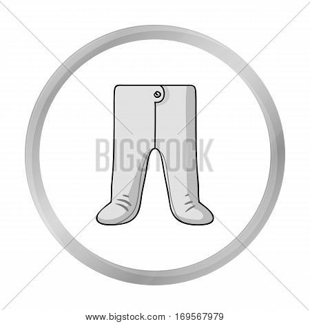 Baby romper icon in monochrome style isolated on white background. Baby born symbol vector illustration.