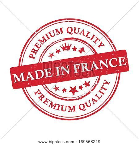 Made in France, Premium Quality printable grunge label / stamp. Print colors (CMYK) used