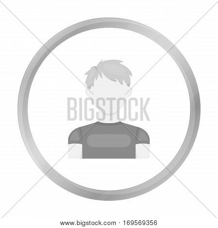 Redhead boy icon monochrome. Single avatar, peaople icon from the big avatar monochrome Stock vector