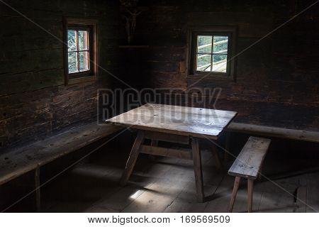 The living room oa an old farm - interieur