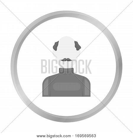 Bald head icon monochrome. Single avatar, peaople icon from the big avatar monochrome.