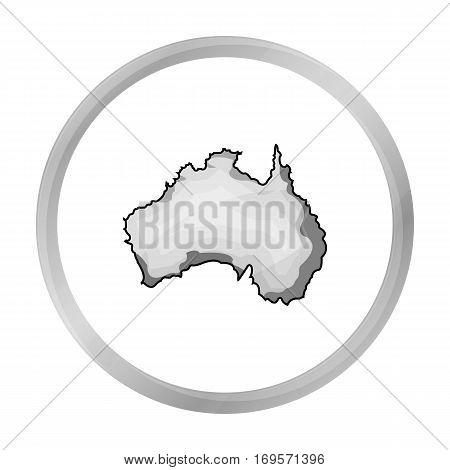 Territory of Australia icon in monochrome design isolated on white background. Australia symbol stock vector illustration.