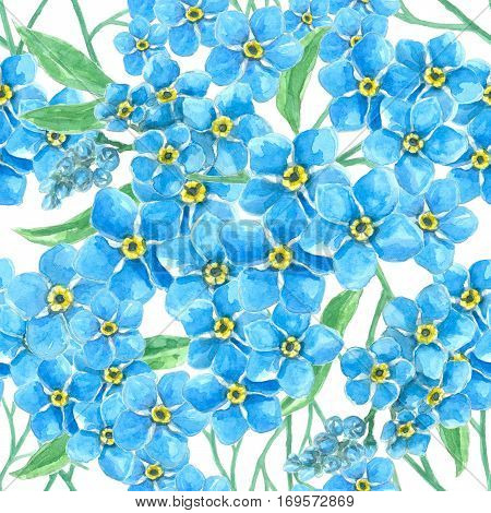 Forget Me Not Seamless Pattern