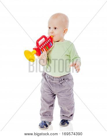 Baby Playing Pipe