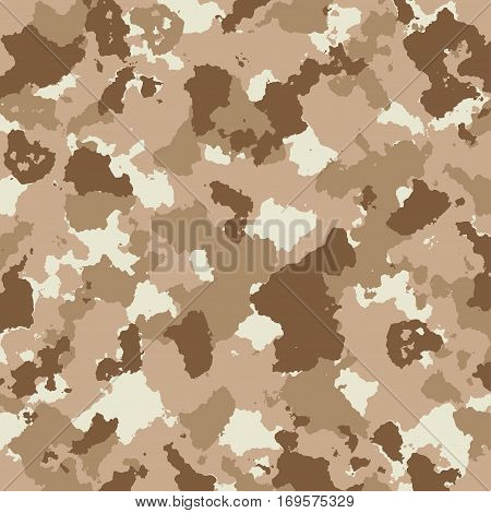 vector military camouflage pattern in brown colors. EPS