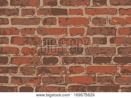 vector brick wall texture illustration, brickwall pattern. EPS