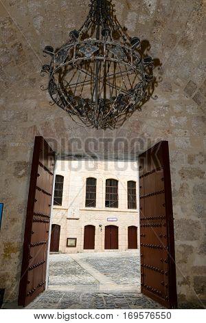 Entrance Door Of El Morro Fortress At Havana