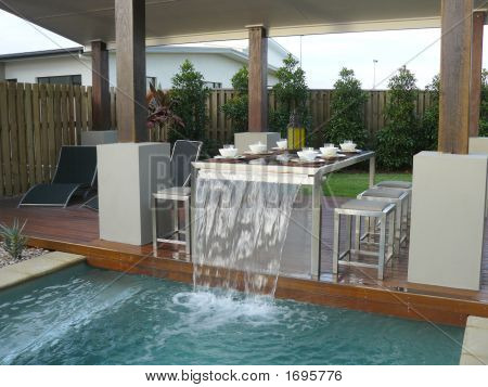Outdoor Dining And Pool