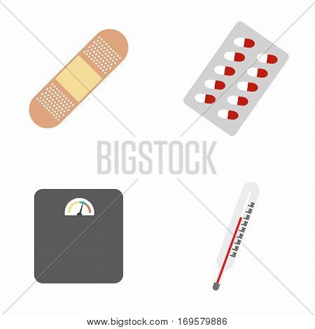Medical & Health Care icons set isolated on white background