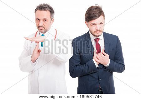 Medic Or Doctor Doing Pause Gesture