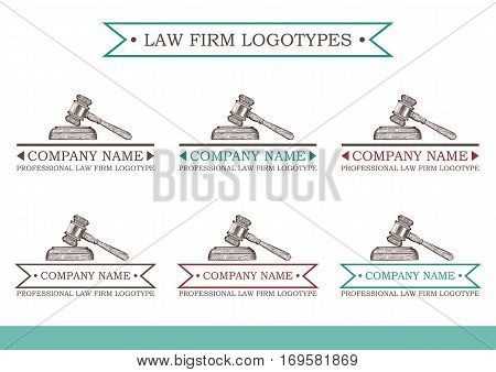 vector logotypes for law firm, attorney or lawyer. EPS