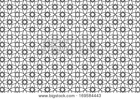 Black And White Abstract Seamless Geometric Pattern. Vector Illustration