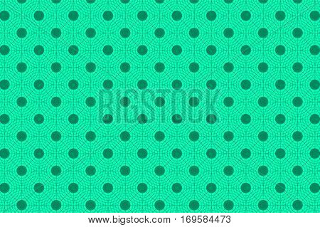 Turquoise Abstract Seamless Geometric Pattern. Vector Illustration