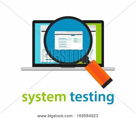 system testing software quality assurance approval process coding programming application review vector