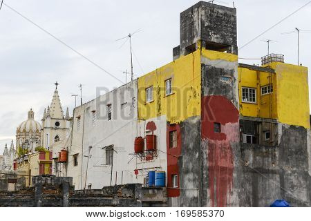 Panoramic View At The Neighborhood Of Habana Vieja